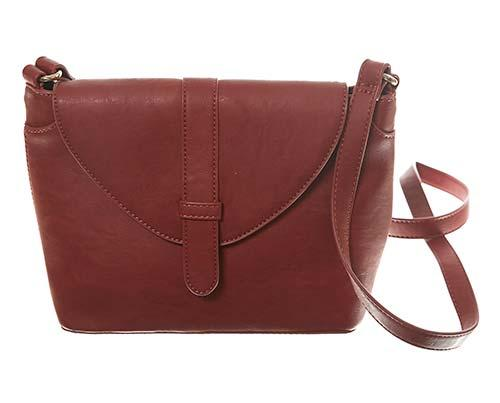 Dr. Ken: Alisson's Faux Leather Burnt Orange Purse-1