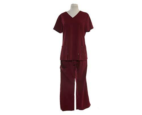 Dr. Ken: Damona's Scrubs Burgundy (2 of 2)-1