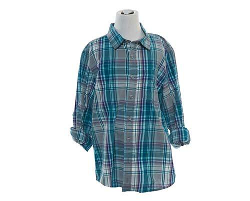 Dave's Teal Plaid Button Up