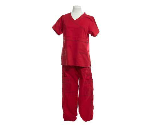 Damona's Red Scrubs (1 of 2)