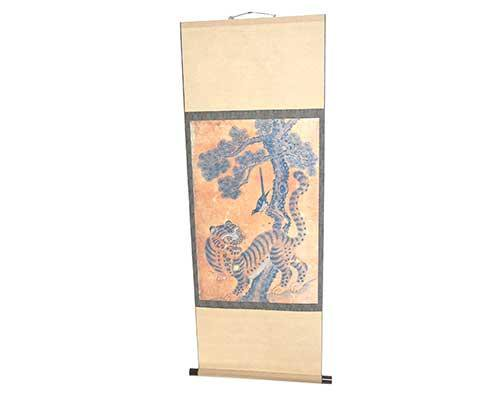 Screenbid Media Company, LLC. - Dr. Ken Oriental Scroll with Tiger