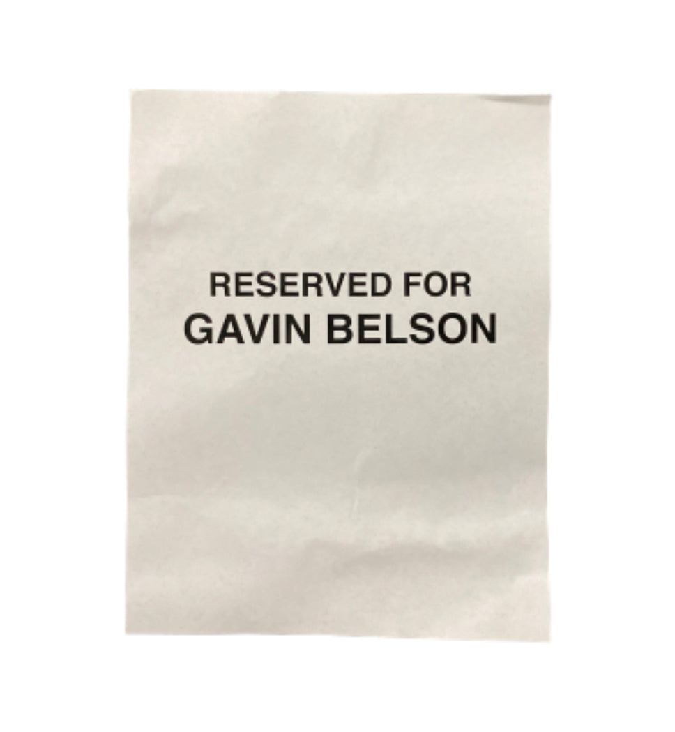 SILICON VALLEY: Reserved for Gavin Belson Sign