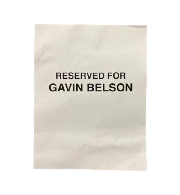 SILICON VALLEY: Reserved for Gavin Belson Sign-1