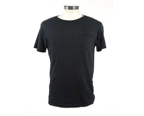 Raylan Givens' Black RRL Polo T-Shirt-1