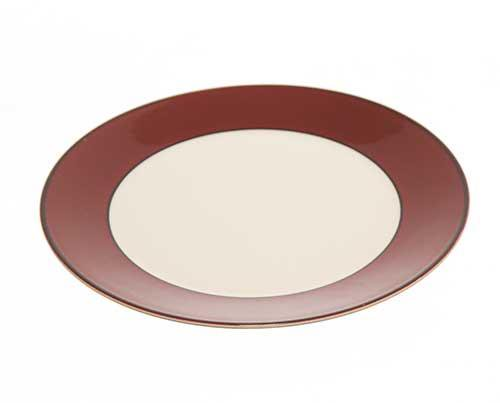 Screenbid Media Company, LLC. - Shelby's House Maroon and White Plate