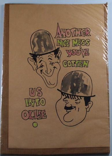 Laurel & Hardy Original Drawing Unknown Artist-1