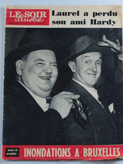Laurel & Hardy Magazine Le Soir Illustre 1957