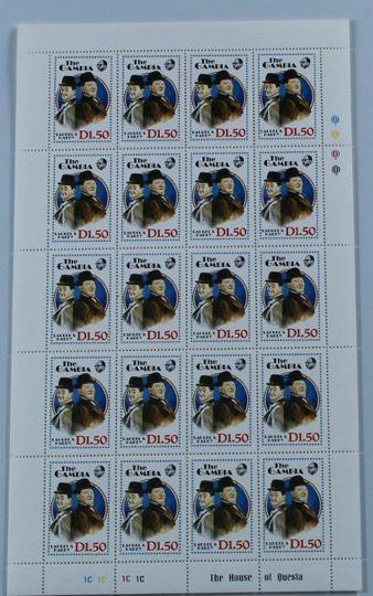Screenbid Media Company, LLC. - Laurel & Hardy Sheet of Laurel and Hardy Stamps