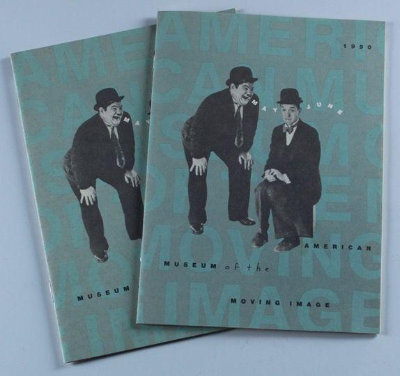 Laurel & Hardy Program from the 1990 Exhibition at the Museum of Moving Image, NYC (2 Count)-1
