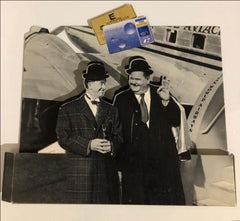 Laurel & Hardy Black and White Cardboard Cut Out from Krediet Bank