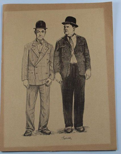 Laurel & Hardy Reprint of a Sketch of Laurel and Hardy by Lanse on Brown Sketch Paper