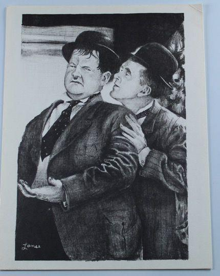 Laurel & Hardy Reprint of a Sketch by Lanse