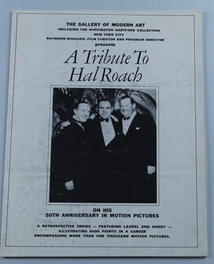 Laurel & Hardy a Tribute to Hal Roach Pamphlet on His 50th Anniversary in Motion Pictures)-1