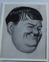 Laurel & Hardy Photo Al Kilgore Drawing of Oliver Hardy