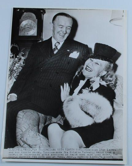 Screenbid Media Company, LLC. - Laurel & Hardy Photo Stan Laurel and Fourth Wife Ida