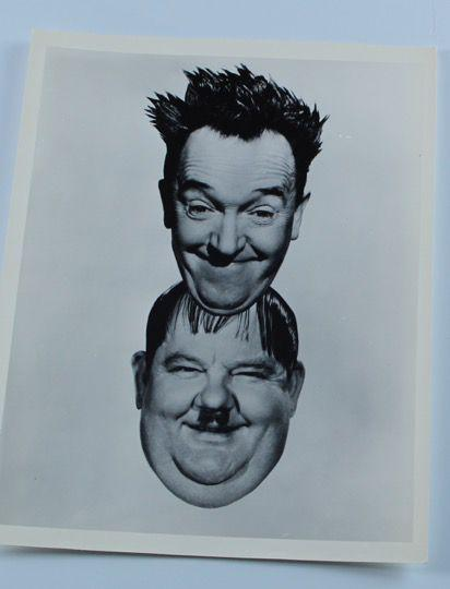 Screenbid Media Company, LLC. - Laurel & Hardy Photo the Boys Overlay - Stan's Head Overlay on Ollie's