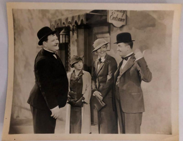 Laurel & Hardy Photo Our Relations (1936) With Wives-1