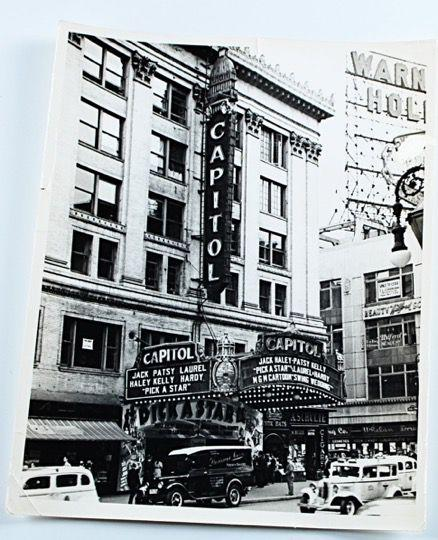 Laurel & Hardy Photo of Capitol Theater in Hollywood Playing Pick a Star (1937)-1