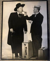 Laurel & Hardy Black and White Glossy Photo, Portrait Jitterbugs (1943)