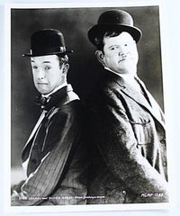 Laurel & Hardy Black and White Glossy Photo, Portrait Sad and Angry