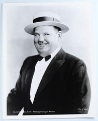Laurel & Hardy Black and White Glossy Photo, Portrait Oliver Hardy Mgm