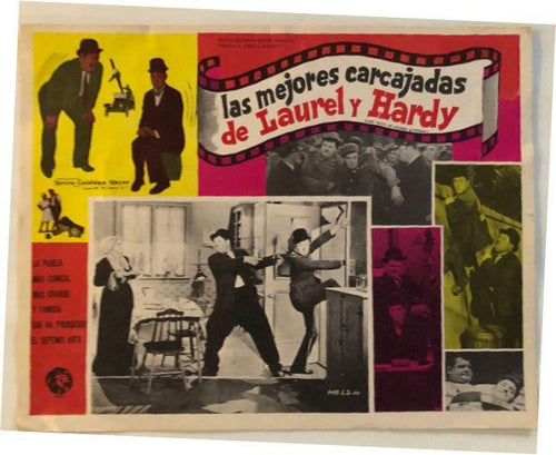 Screenbid Media Company, LLC. - Laurel & Hardy Lobby Card Las Mejores Carcajadas De Laurel Y Hardy in Spanish the Best of Laurel & Hardy (1967) #2