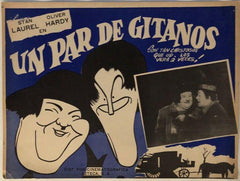 "Laurel & Hardy Movie Poster ""El Maestros De Baile"" (Spanish) the Dancing Masters (1943)"