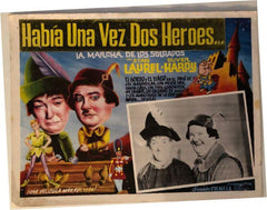 Laurel & Hardy Movie Poster Habia Una Vez Dos Heroes..(In Spanish) Babes in Toyland (1934)