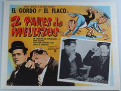 "Laurel & Hardy Movie Poster ""2 Pares De Mellizos"" (Spanish) Our Relations (1936)"