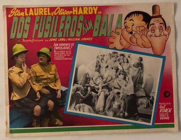 Laurel & Hardy Movie Poster Dos Fusileros Sin Bala (Spanish) Bonnie Scotland (1935)-1