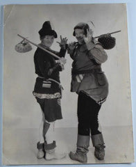 Laurel & Hardy Black and White Vintage Photo Babes in Toyland (1934)