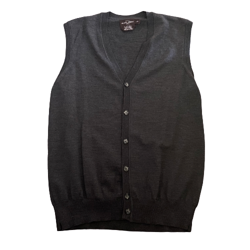 SILICON VALLEY: Jared's Grey Wool Button Up Sweater Vest