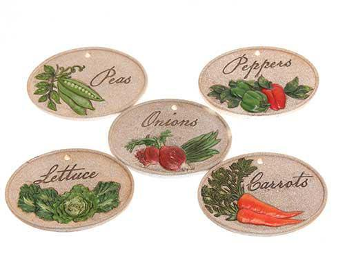 Sweetbriar Rose Diner Vegetable Plaques