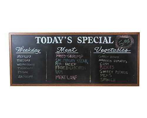 Screenbid Media Company, LLC. - Sweetbriar Rose Diner Chalkboard Menu - 1 of 2