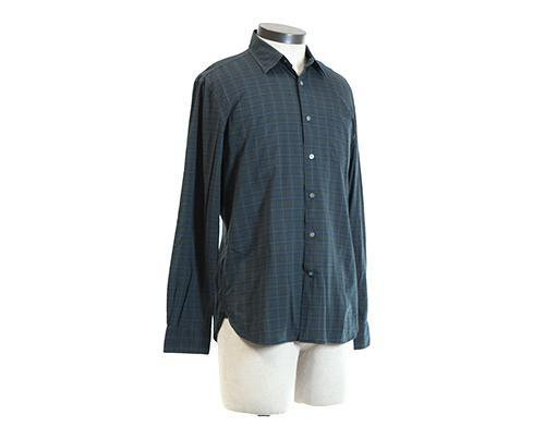 Under The Dome: Big Jim's Green Plaid Button-Up Shirt-1