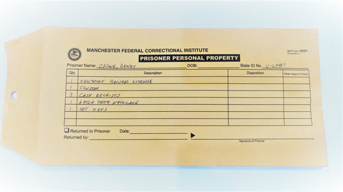 Screenbid Media Company, LLC. - Justified: Dewey Crowe's Prisoner Personal Property Envelope