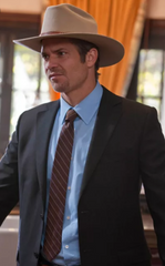 Raylan Givens' Light Blue Button-Down Shirt