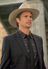 Justified: Raylan Givens' Screen Used Charcoal 2-Piece Suit