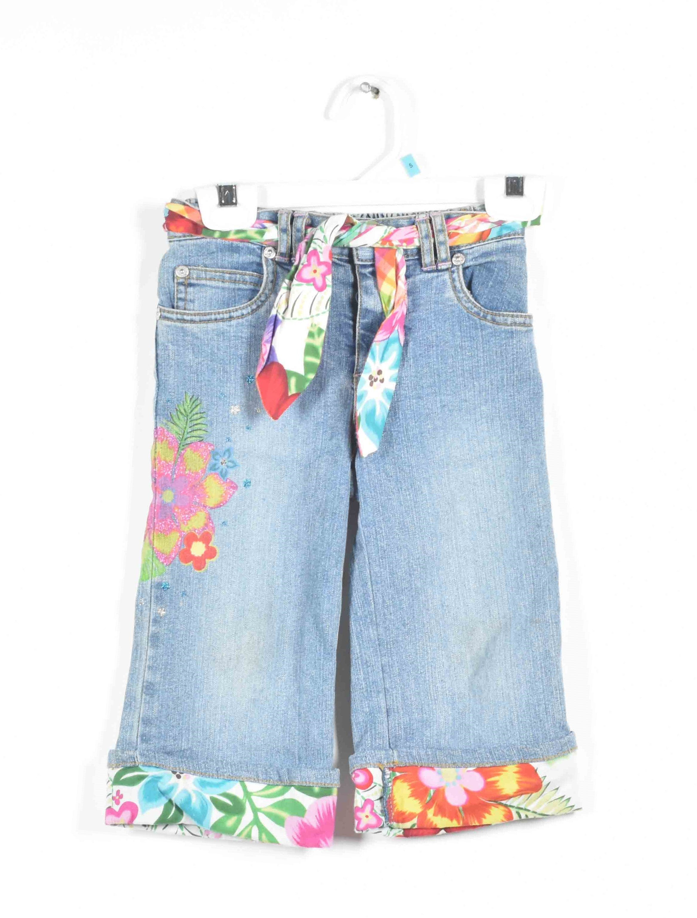 Gone Baby Gone: Amanda's Tropical Flower Jeans Double