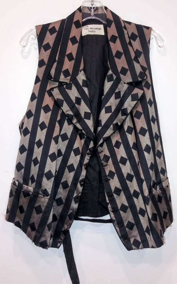 Gangs Of New York: Boss Tweed's Striped Diamond Print Vest-1