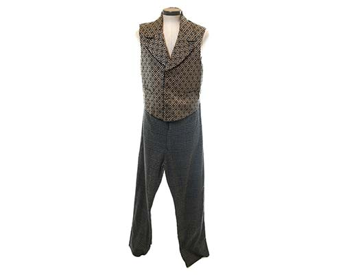 Gangs of New York: Boss Tweed's Diamond Pattern Vest and Houndstooth Trousers-2