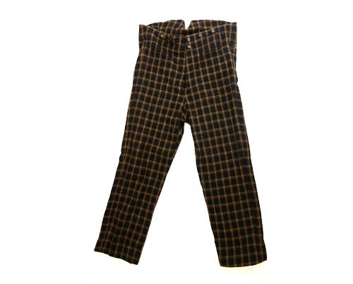 Boss Tweed's Black & Yellow Checked Trousers