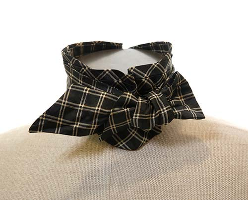 Boss Tweed's Pewter Checked Bow Tie - 1 of 2