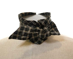 Screenbid Media Company, LLC. - Boss Tweed's Pewter Checked Bow Tie - 1 of 2