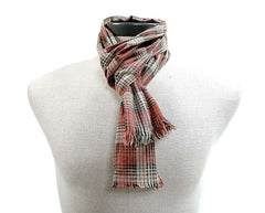 Gangs of New York Brown Check Scarf