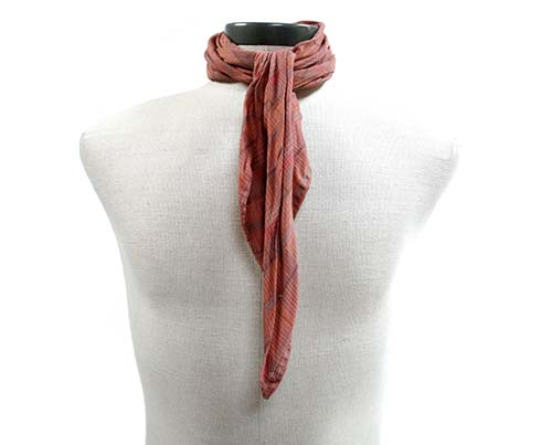 Gangs of New York Brown Striped Patterned Scarf-1