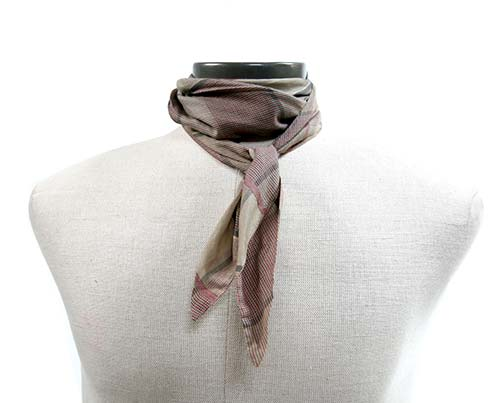 Screenbid Media Company, LLC. - Gangs of New York Grey Checked Patterned Scarf - 1 of 3