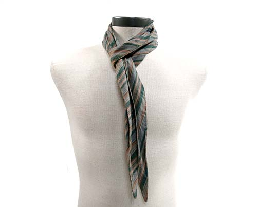 Gangs of New York Green & Grey Striped Scarf-1