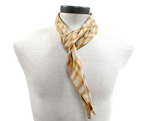 Gangs of New York Yellow Checkered Scarf