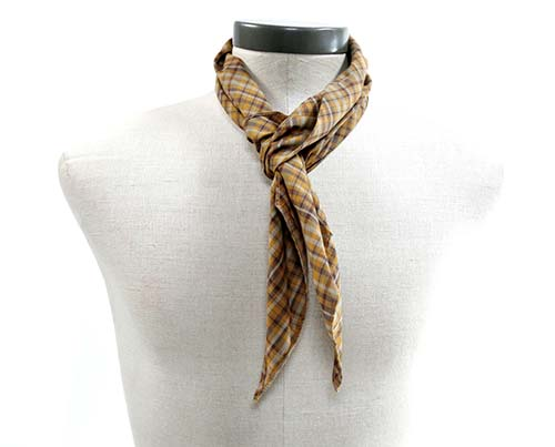 Gangs of New York Brown & Yellow Check Scarf-1